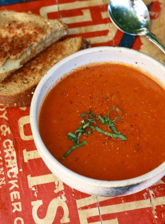 garden tomato soup with basil